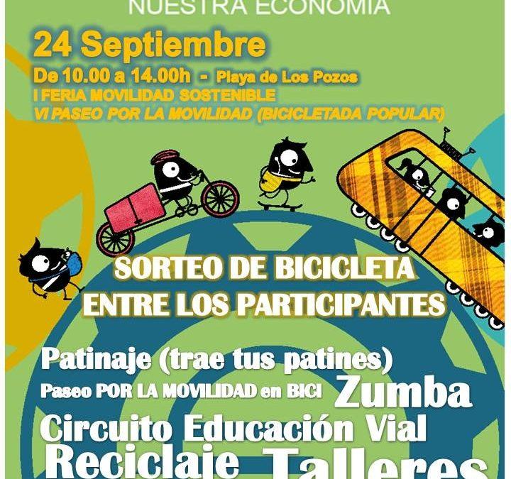 Este sábado en el entorno de la playa de Los Pozos «I Feria de la movilidad»