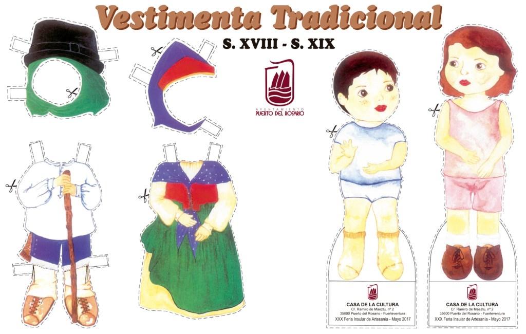 El stand de Puerto  en la Feria de Artesanía con vestimenta tradicional