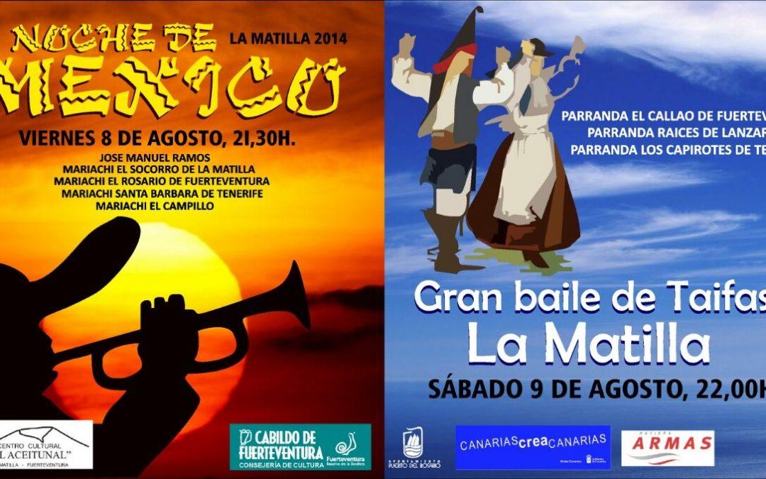 Noche de México y Gran Baile de Taifas en las Fiestas de La Matilla
