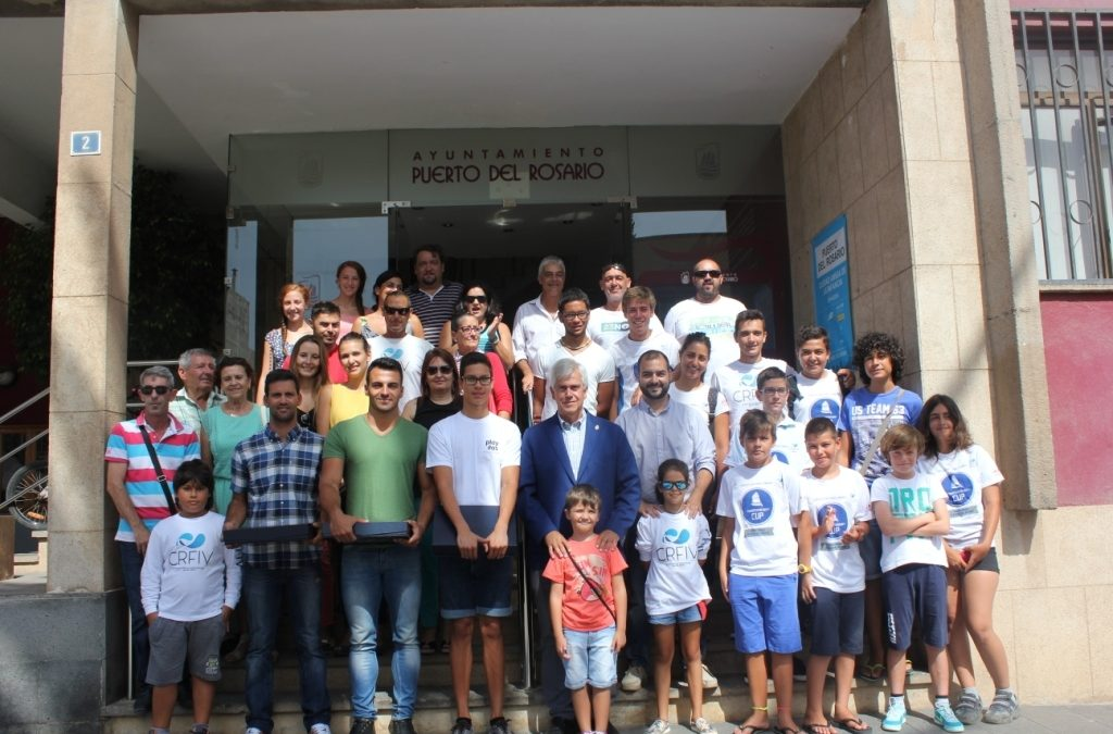 Los campeones son recibidos en el Ayuntamiento de Puerto del Rosario