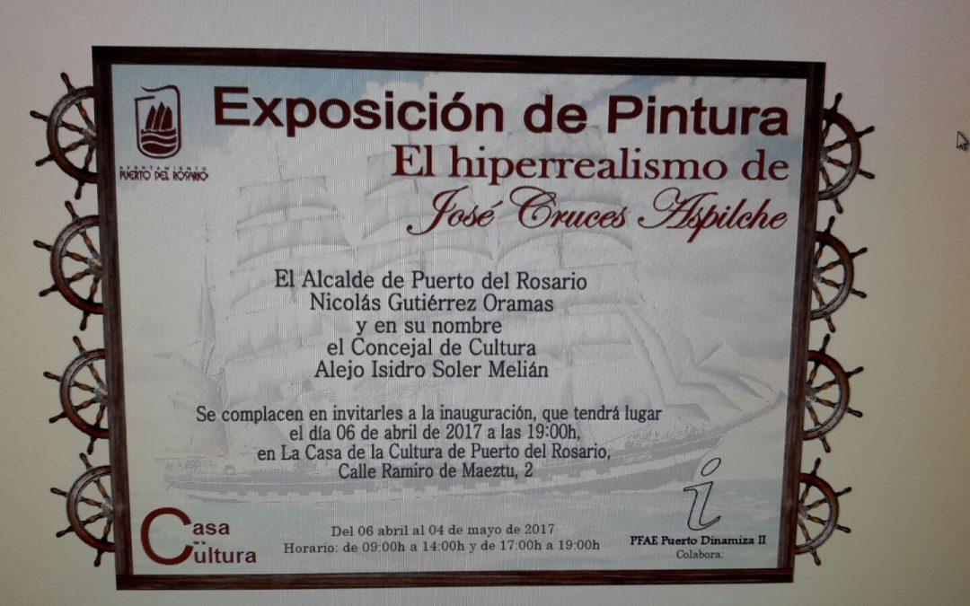 Exposición de pintura de «Cholo Cruces» en la Casa de la Cultura
