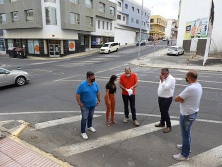 Inicio de las obras de la nueva miniglorieta entre las calles Duero y Secundino Alonso