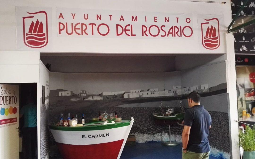 El stand de Puerto en Feaga, único institucional dedicado a la pesca