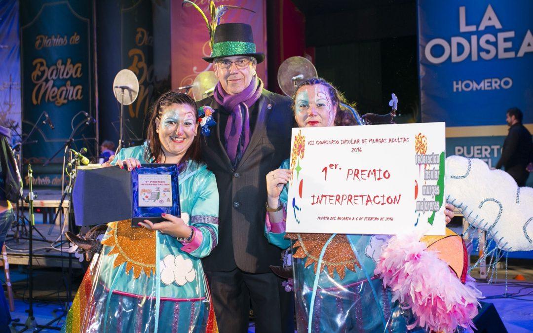 «Las Sargoriás» se alzan con el primer premio de interpretación en el Concurso Insular de Murgas