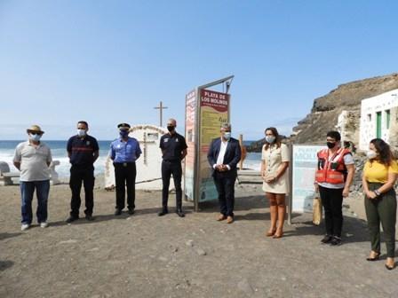 La playa de Los Molinos estrena un innovador sistema de seguridad y emergencias