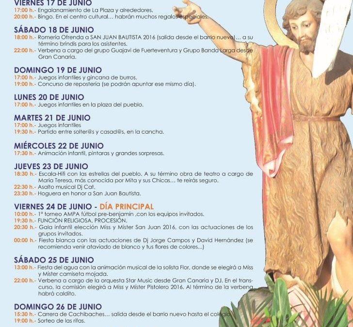 Fiestas de San Juan en el Matorral a partir de este viernes, 17 de junio