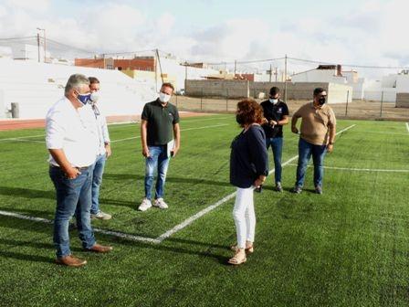 El Campo municipal de fútbol de El Matorral ya está listo para su uso