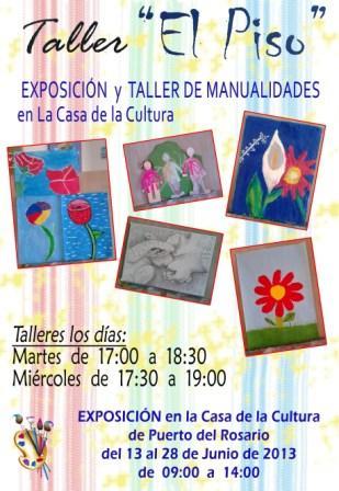 EXPOSICIÓN DE PINTURAS Y MANUALIDADES DEL TALLER