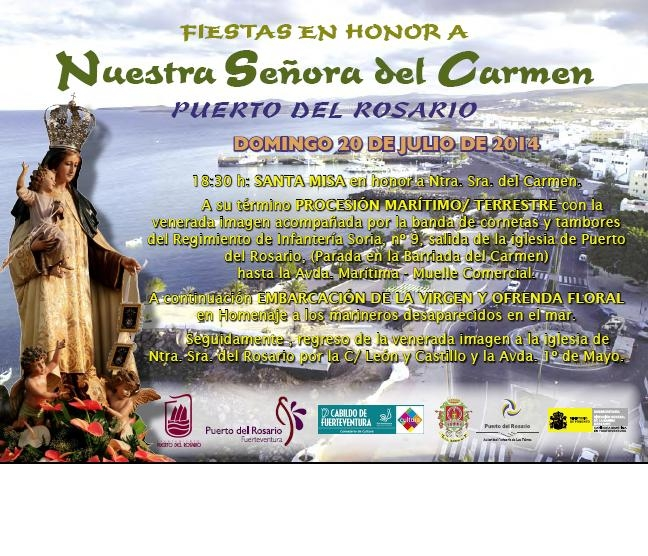 Procesión Virgen del Carmen en la capital