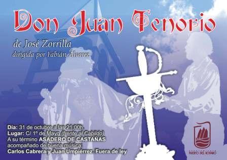 LA OBRA DE TEATRO «DON JUAN TENORIO», EN PRIMERO DE MAYO, ESTE JUEVES, 31 DE OCTUBRE