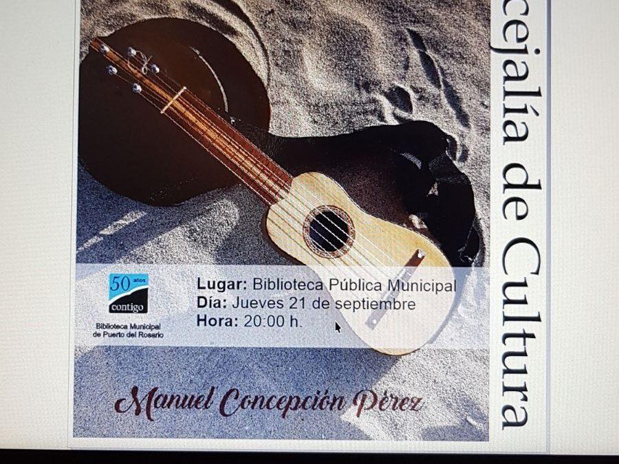 Presentación del libro «El Cogedero» de Manuel Concepción