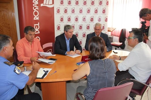 Visita del Director General de Seguridad y Emergencias del Gobierno de Canarias