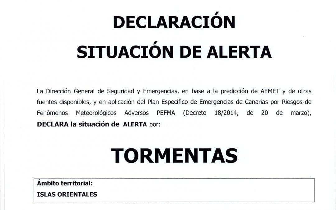 Suspensión de actividades al aire libre esta tarde por Alerta Meteorológica