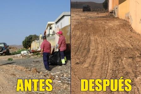 Puerto del Rosario continúa promoviendo las labores de limpieza de solares y terrenos