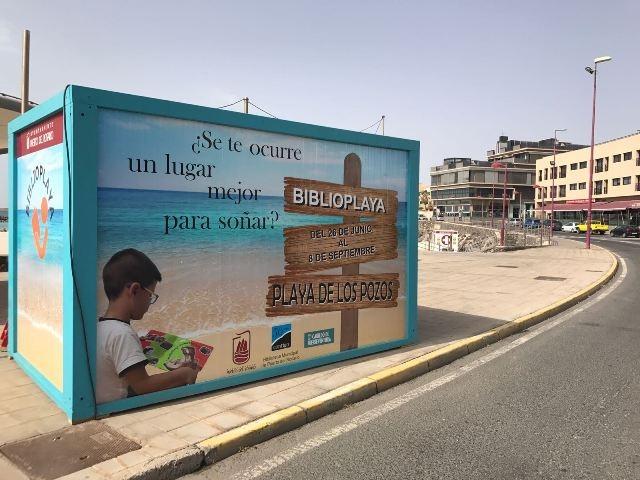 Biblioplaya en Puerto del Rosario. Un fantástico recurso para las vacaciones