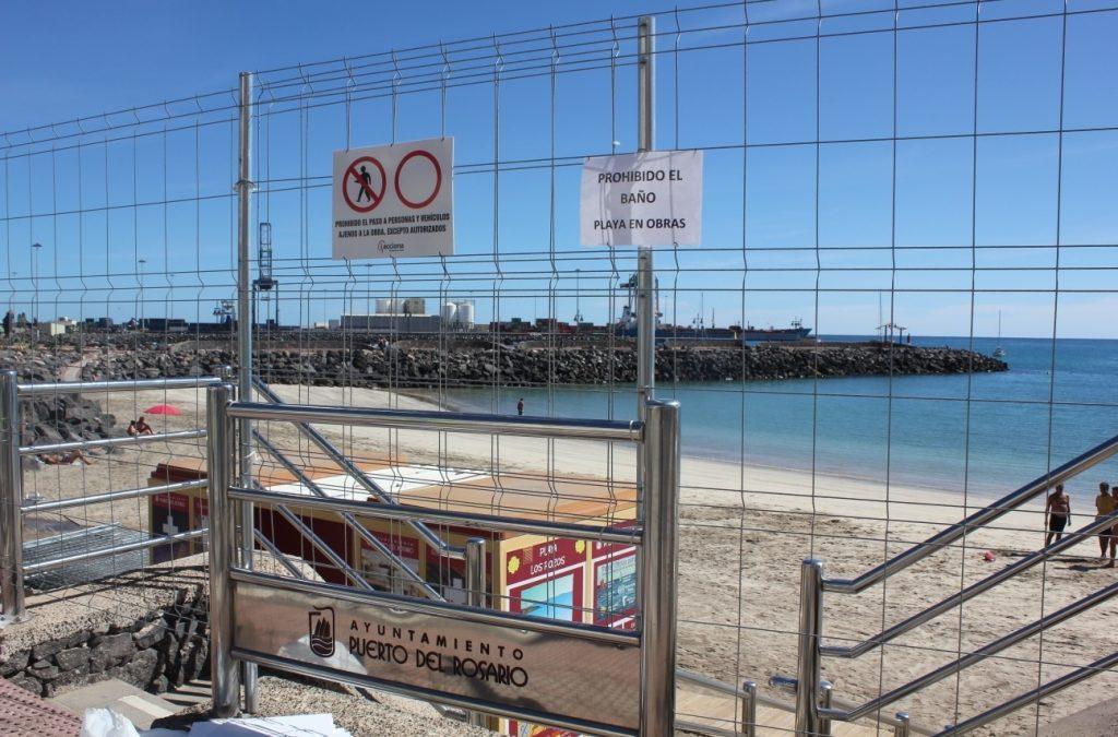 Obras de dragado y aporte de arena a la nueva Playa de Los Pozos