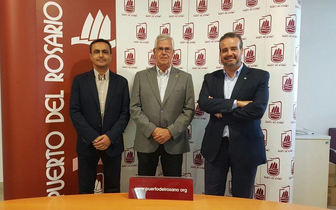 El Alcalde recibe al candidato a Rector de la ULPGC, Rafael Robaina