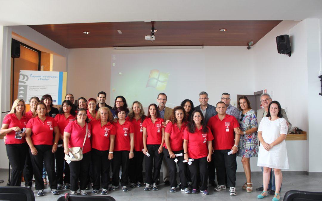 Los alumnos de Puerto Integra reciben un certificado de profesionalidad
