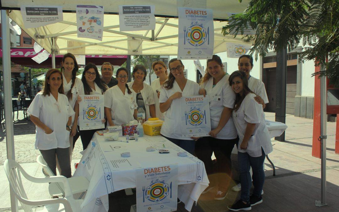 Stand «Diabetes y Vida Saludable» en Primero de Mayo