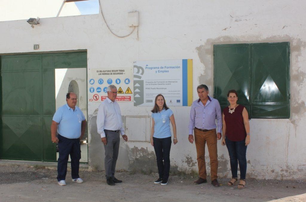 Visita a los trabajos de rehabilitación del Campo de Lucha de Casillas