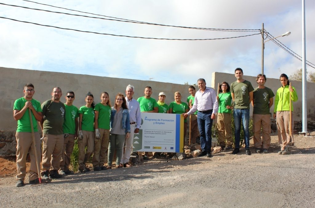 El PFAE » Puerto Natura» desarrolla acciones en Tesjuate y Ampuyenta