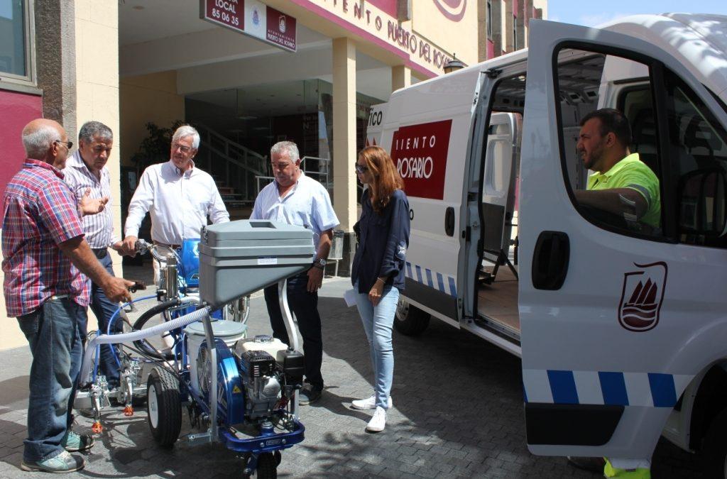 El Ayuntamiento presenta nuevos recursos técnicos en señalización viaria