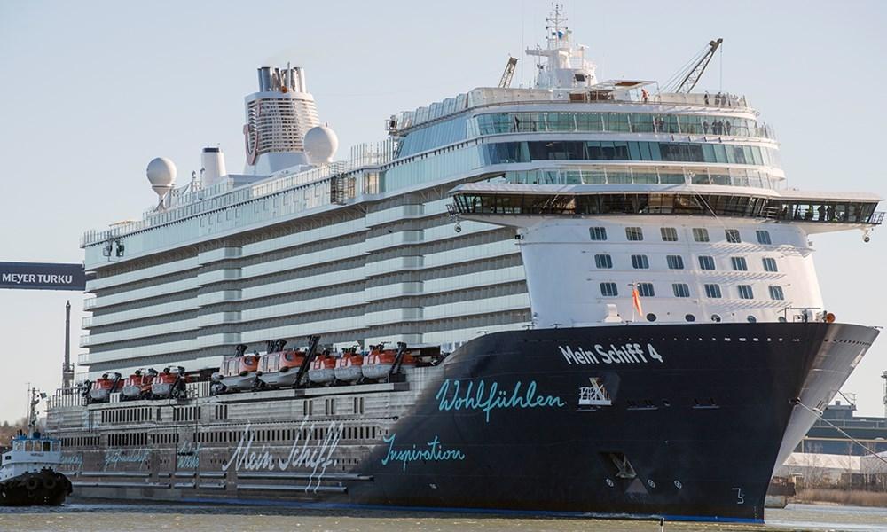 El «Mein Schiff 4» inaugura la temporada de cruceros en la capital