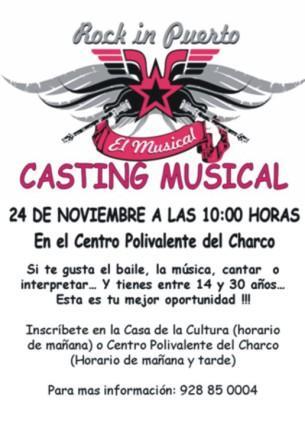 ESTE SÁBADO, CASTING PARA EL MUSICAL