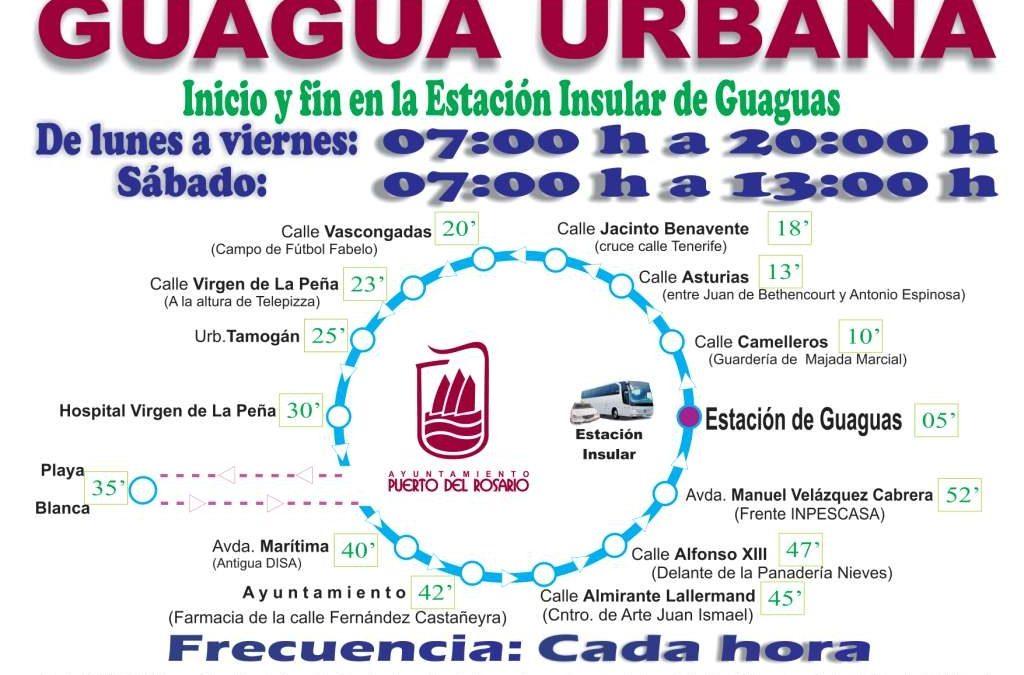 El Servicio de Guagua urbana perfila sus horarios