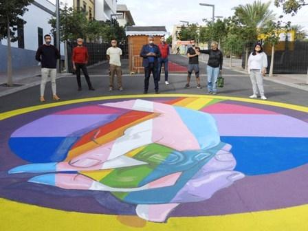 Puerto del Rosario dedica un nuevo mural a la inclusión LGTBI+ en colaboración con Altihay