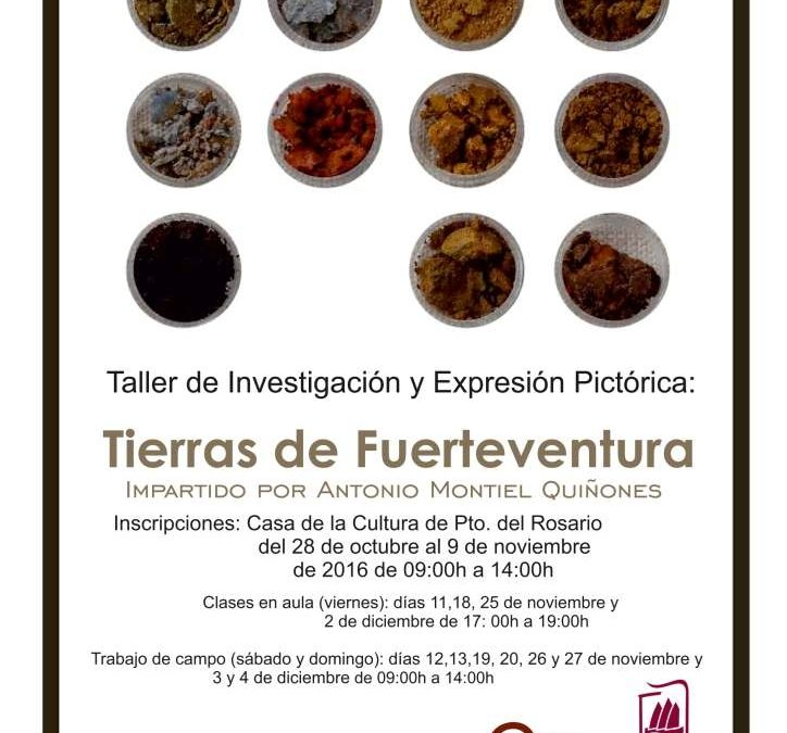 Taller de investigación y expresión pictórica con tierras de Fuerteventura