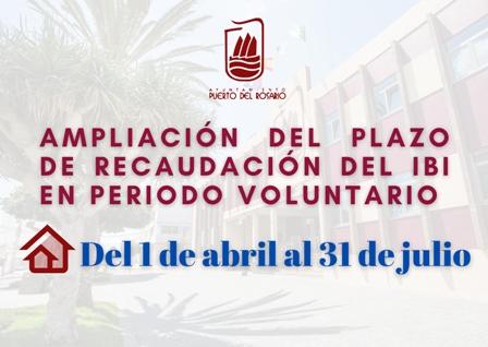 Puerto del Rosario amplía dos meses el plazo de recaudación del IBI en periodo voluntario
