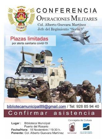 La Biblioteca de Puerto del Rosario acoge este miércoles una conferencia sobre 'Operaciones militares'
