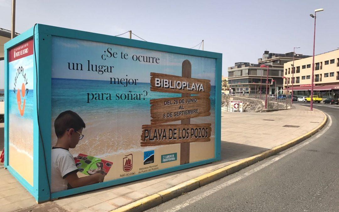 Presentación de la Biblioplaya en La Playa de Los Pozos