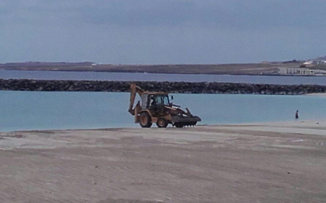 La Playa de Los Pozos mejorará la calidad  de su arena de forma periódica