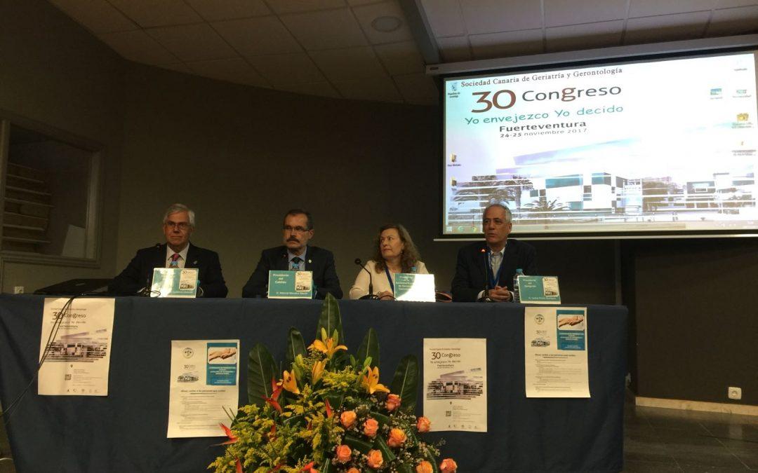 El Ayuntamiento en el  30 congreso de Geriatría y Gerontología