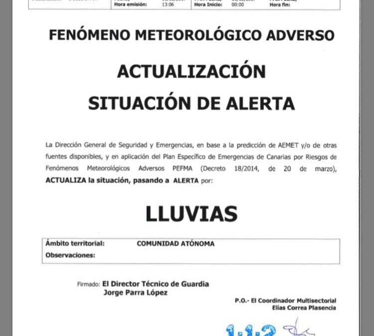 CIERRE DE INSTALACIONES DEPORTIVAS MUNICIPALES POR ALERTA