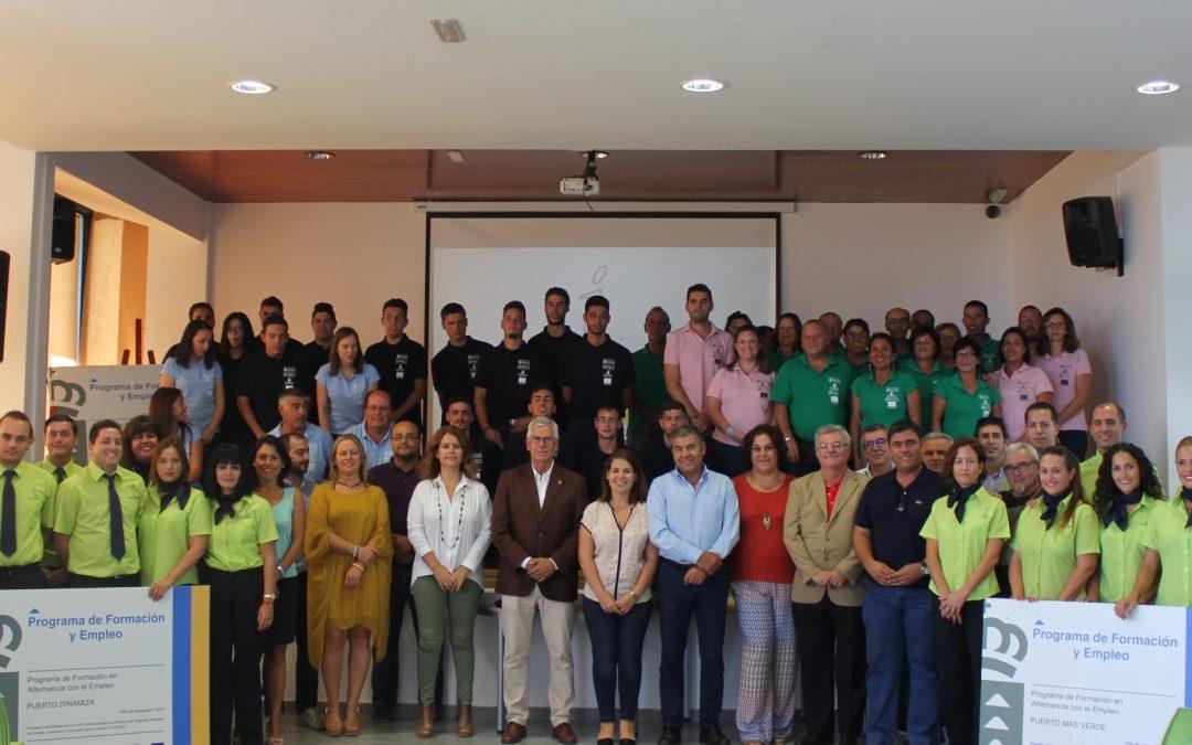 Culmina la formación para el empleo de 45 jóvenes de Puerto del Rosario