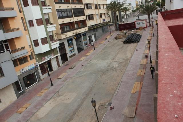 Obras en la zona centro de Puerto del Rosario