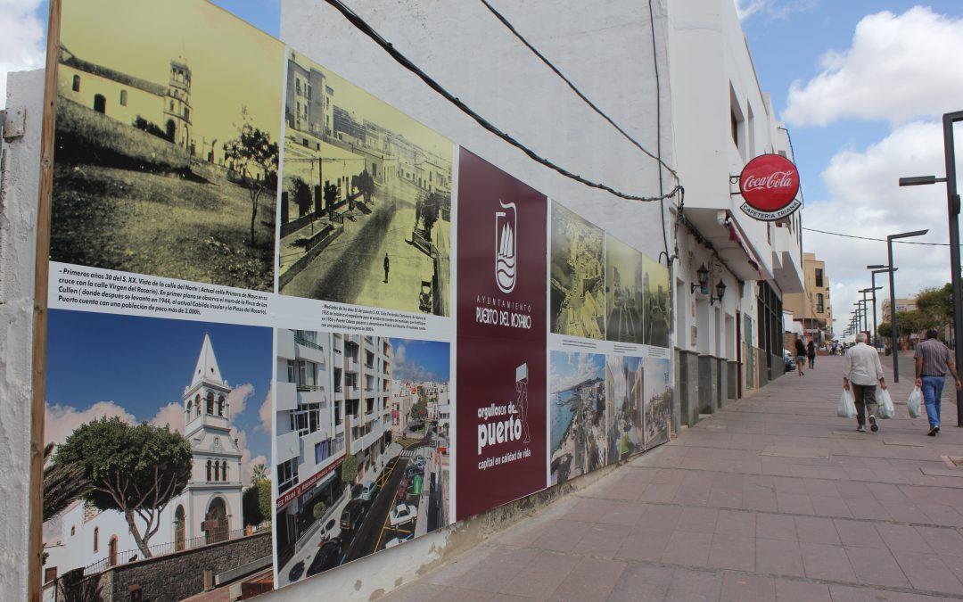 Mural fotográfico con el «ayer y hoy» de la capital