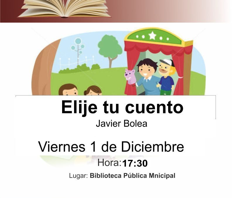Cita con los cuentacuentos este viernes, 1 de diciembre, en la Biblioteca