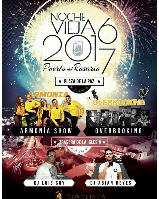 Gran Fiesta de Fin de Año con «Armonía Show» y «Overbooking»