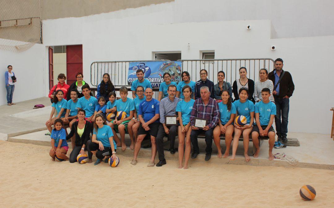 Nueva cancha de Voley Playa en el recinto deportivo de Los Pozos