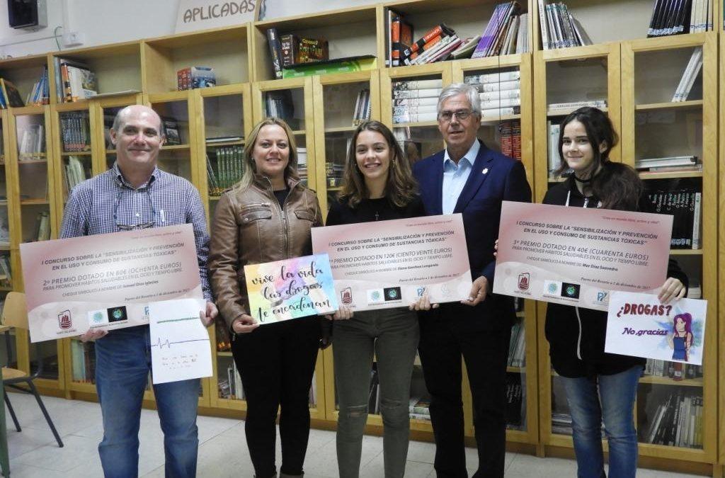 Entrega de premios en el Concurso de Dibujo sobre prevención de toxicomanías