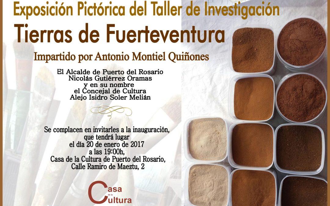 Inauguración Exposición «Tierras de Fuerteventura», hoy viernes, 20 de enero.