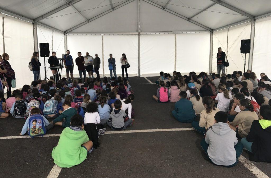 Visitas guiadas de escolares al Belén Gigante