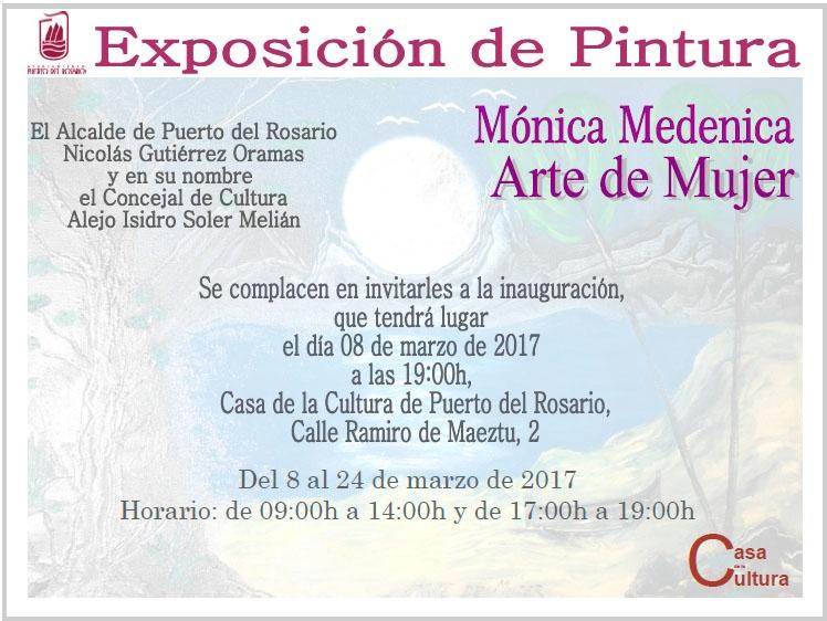 Exposición de Mónica Medenica en la Casa de la Cultura