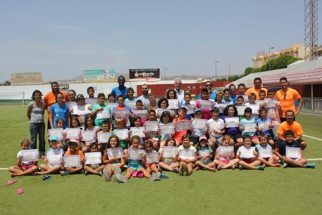 Clausura de escuelas deportivas municipales en Puerto del Rosario
