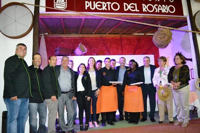 El stand de Puerto en Feaga, protagonizado por los alumnos del módulo de cocina