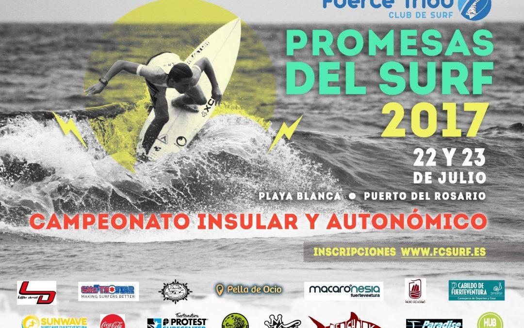 Los más jóvenes se disputan el campeonato autonómico de Surf en Playa Blanca
